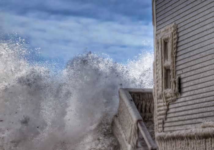 Winter Storm Juno Storm Surge Damage