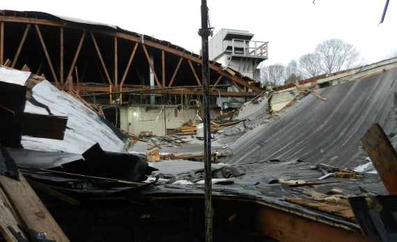 Structural Building Roof Collapse